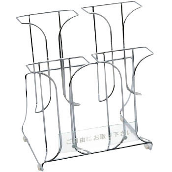 Wire Catalog Stand [A4 Three Fold 2 Rows 2 Stage]