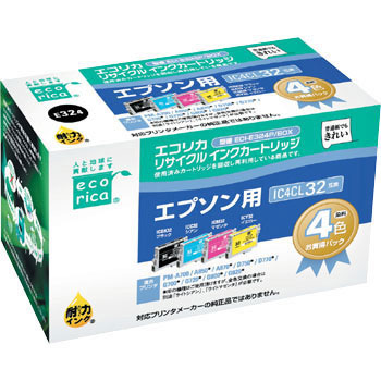 Recycling Ink, EPSON Corresponded, IC32 Type 4 Color Pack