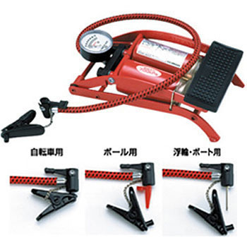 Bike Foot Air Pump Tire Inflator, FOOT PUMP