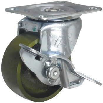 415G Swivel Caster Stopper, Solid Casting Wheel