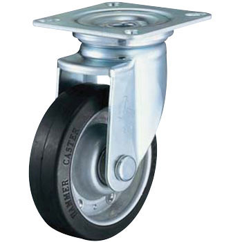 420J Swivel Caster, Iron Plate Wheel, Rubber Car Radial Ball Bearings Case
