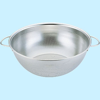UK18-8 Punching Deep Bowl Strainer, Handles, Middle Roughness