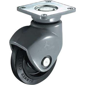 420P0S Swivel Caster, Nylon, Rubber Wheel B