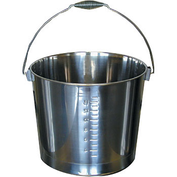 18-8 Scaled Bucket, Stainless Steel Grip