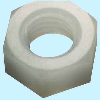 Hex Nut Class 1, White, Polycarbonate