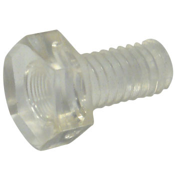 Hex Bolt, Polycarbonate, Transparent)) Complete Thread