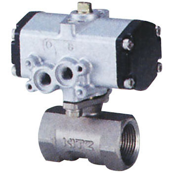 Small Stainless Pneumatic Ball Valve, Reduced Bore