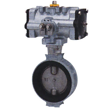 Aluminum Pneumatic Butterfly Valve, Short Neck