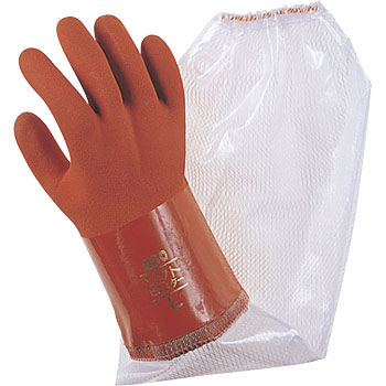 "Vinyl Gloves with Arm Cover, ""Soft Viny Star No.652"""