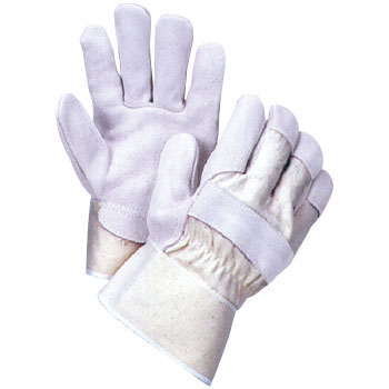 Cow Split Leather Gloves, Canvas Leather GloveK-100