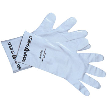 Solvent Resistant Gloves, Silver Shield