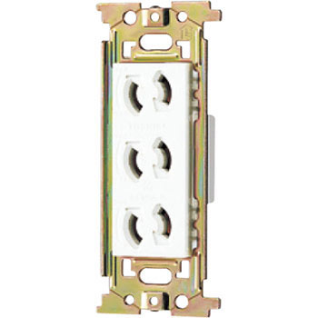 E's WIDE series retaining triple outlet