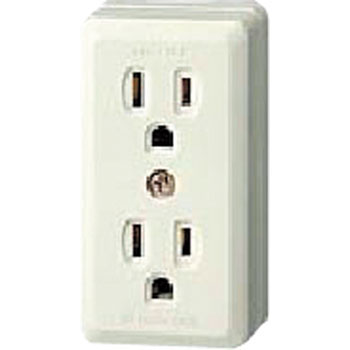 Grounding Double Outlet, Square