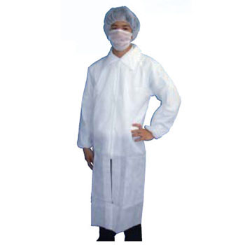 AZ CLEAN White Robe, Mask, Cap Set