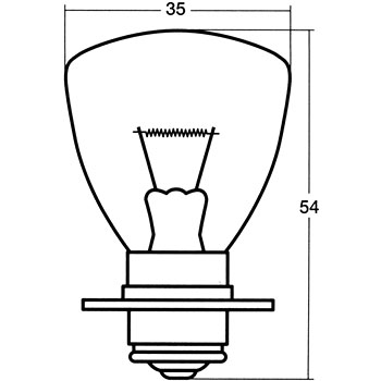 Headlight and Fog Lamp Bulb Single, 12V