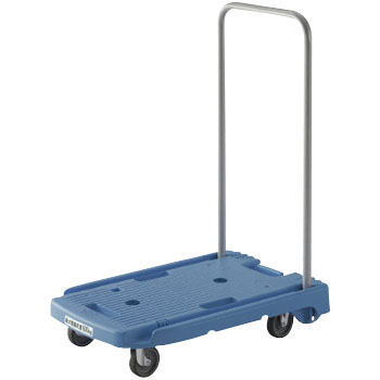 "Light-Duty Resin Trolley with Foldable Handle, ""KOMAWARIKUN"""