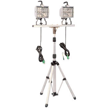 Double Light 500W Halogen Light Floor Stand Type, With 5M Electrical Ground
