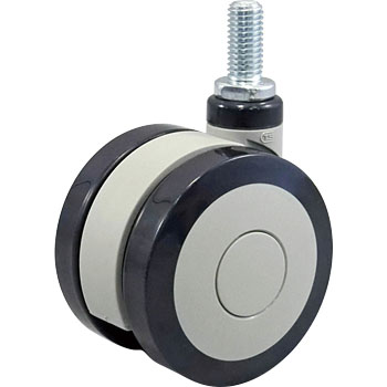 Twin Wheel Caster T-Type, Bolt MountingUrethane Winding Wheel