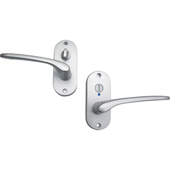Door Lever J, Oval Back Plate, Indicator Lock