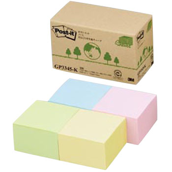 Post-It Notes, Entirely Recycled Paper, Cube, Large Quantity Type