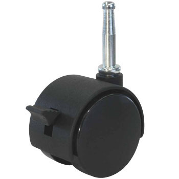 Twin Wheel Casters PT Series, Insertion Type, Stoppers