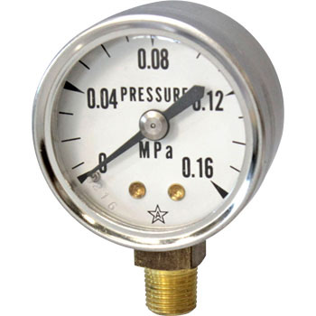 Small Pressure Gauge A form Vertical phi40