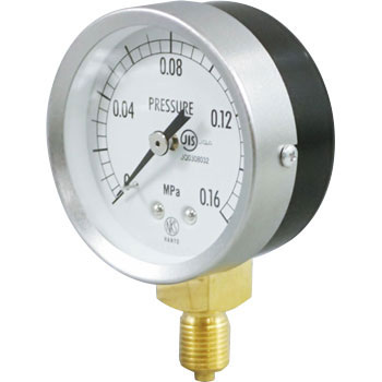 JIS General Purpose Pressure Gauge A Frame, Straight Thread