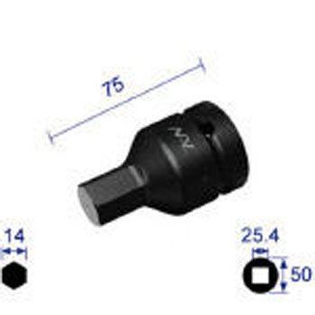 Hex Wrench Socket, Insertion Angle 25.4mm