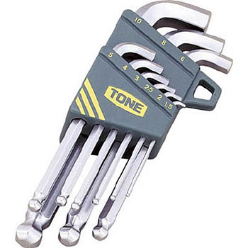 Ball point key wrench set,short neck type