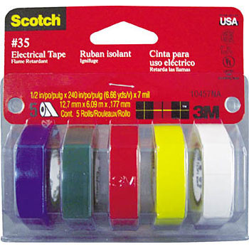 3M Vinyl Tape No.35 Multi Color Pack