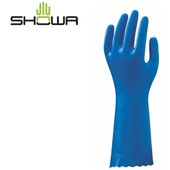 "PVC Thin Gloves, ""Blue Fit"""