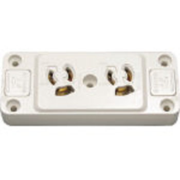Retainer Grounded Double  Outlet