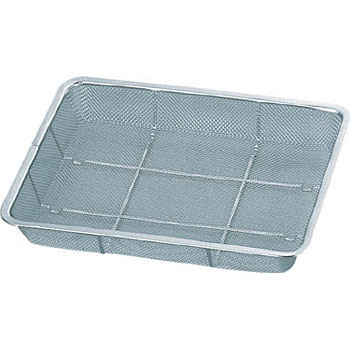 Stainless Steel Mesh Container, Shallow