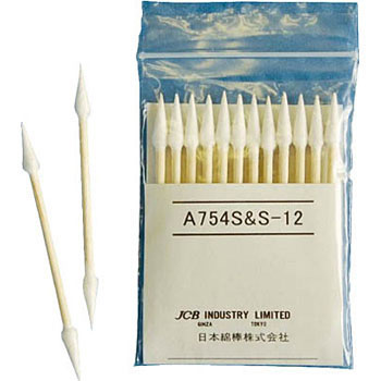 Industrial Cotton Swab, Ultra Thin, Linear, Cone-Shaped, Wooden Shaft