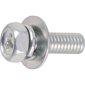 Upset Hexagon Socket Screw, Washer Cormic, Trivalent White
