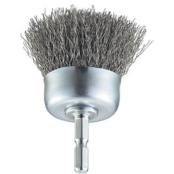 Shank Wheel Brush, Hex Shank, Stainless Wire