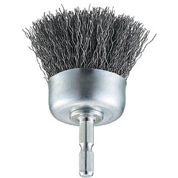 Shank Wheel Brush, Hex Shank, Wire