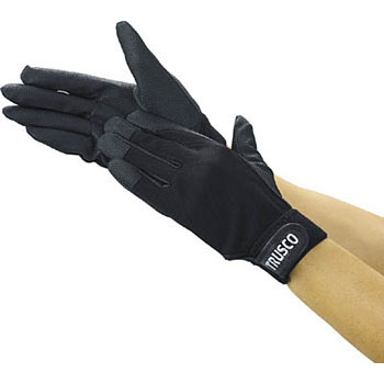PU Thick Gloves, Embossed, Black
