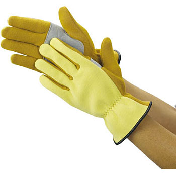 Zylon cutlery glove cowhide back type