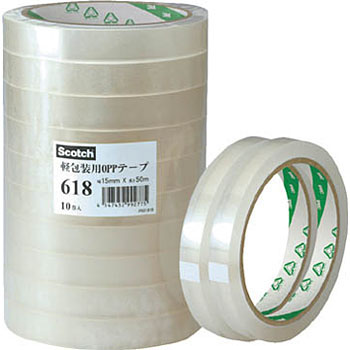 3M Light Packaging Oriented Polypropylene Tape 618
