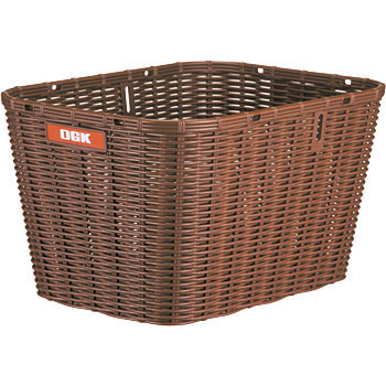 Large Rear Rattan-Like Basket