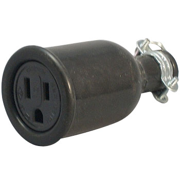 Water Proof Rubber Connector Body Grounding 2P