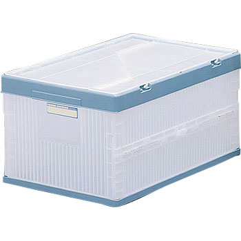 Folding container with lid
