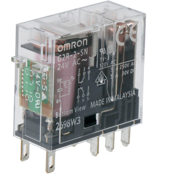 S OMRON G2R-2-S-AC24 Plug In Relay,8 Pins,Square,24VAC