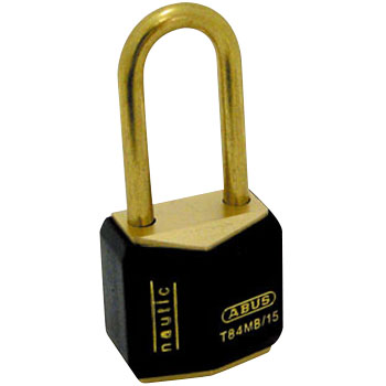 Brass Padlock with Plastic Cover,T84MB