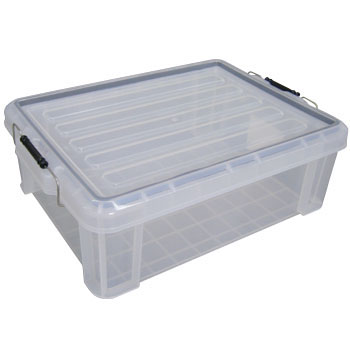 Enclosed Buckle Container, Clear