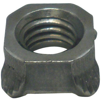 Square Weld Nut 1D, Iron/Fabric