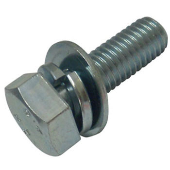 Hex Sems Screw P = 3 Iron/Uni Chromate