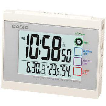Atomic Wall Clock, Thermo Hygrometer