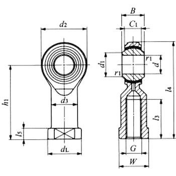 Pillow ball Rod end PHS (with insert type and female thread) PHS